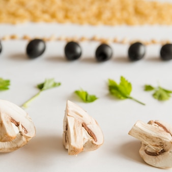 Linhas de ingredientes italianos