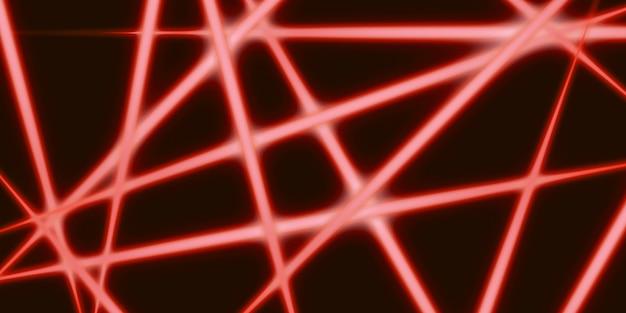 Linhas de luz abstratas linhas brilhantes em um fundo escuro ilustração 3d