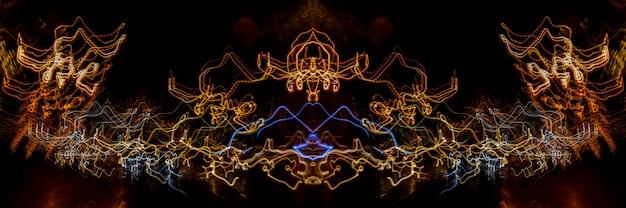 Linhas de luz em fundo preto