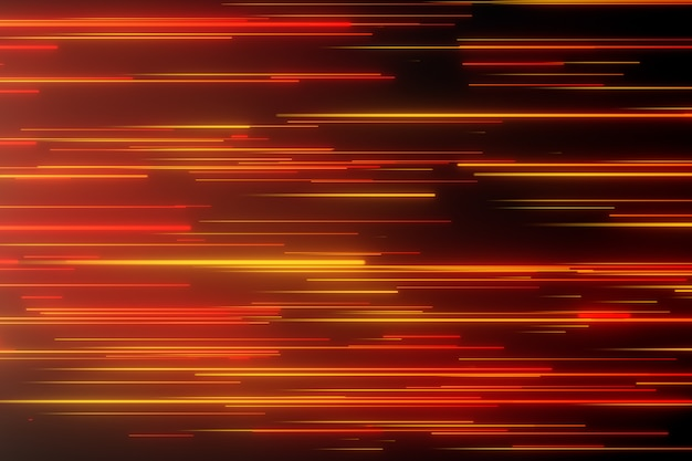 Linhas de néon direcionais abstratas