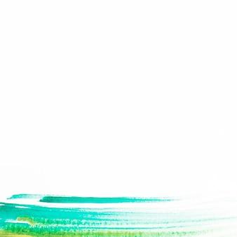 Linhas de pintura verde e turquesa