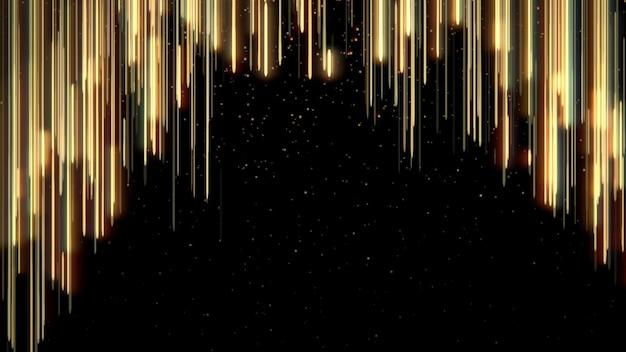 Linhas douradas de pontos, fundo abstrato. estilo dinâmico elegante e luxuoso para ilustração 3d de prêmios