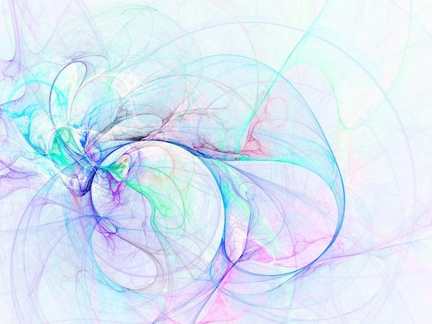 Linhas e curvas redondas abstratas coloridas em fundo branco