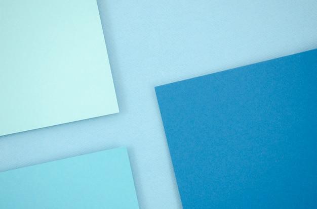 Linhas e formas geométricas mínimas azuis