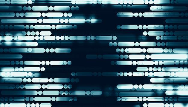 Linhas e pontos em um fundo azul tecnologia digital linhas abstratas do futuro ilustração 3d