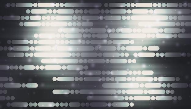 Linhas e pontos que brilham em um fundo preto conceito de tecnologia digital de alta tecnologia fundo de linha futurista abstrata ilustração 3d