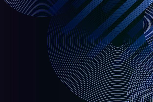 Linhas geométricas com fundo azul