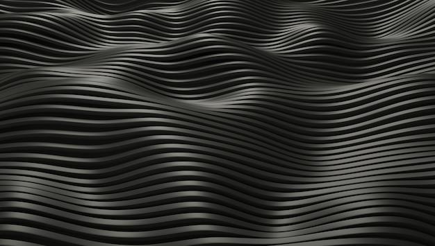 Linhas metálicas de textura acenando.