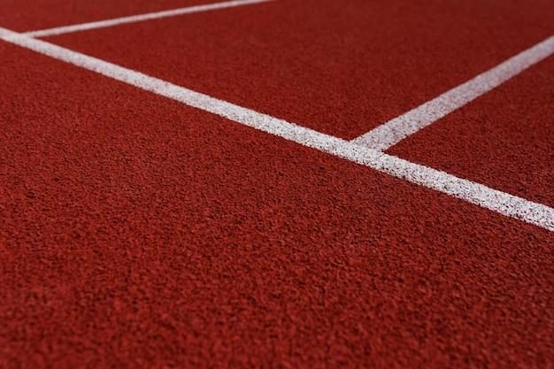 Linhas na pista de atletismo do estádio