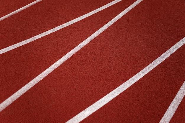 Linhas na pista de corrida