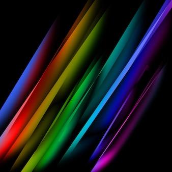 Linhas retas multicoloridas oblíquas