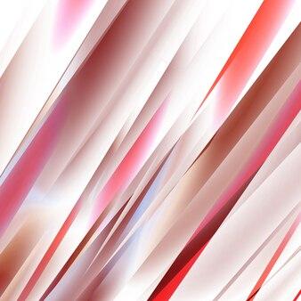 Linhas retas vermelhas em um ângulo descendente