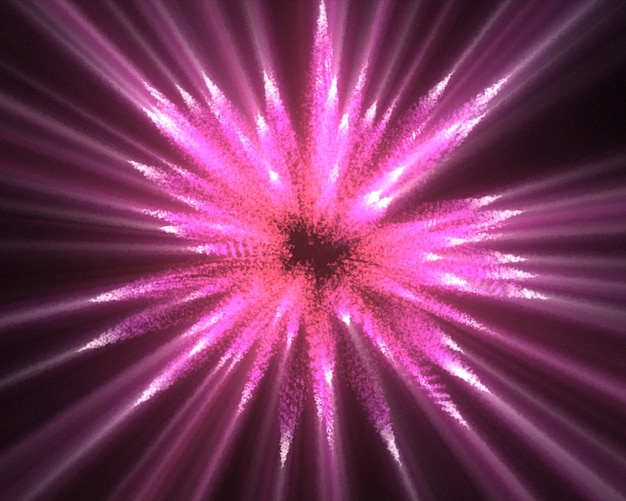 Linhas rosa de luzes fluorescentes