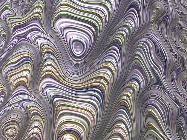 Linhas textured abstratas do fractal em tons pastel. 3d render