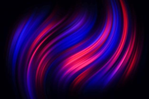 Linhas torcidas azuis e vermelhas