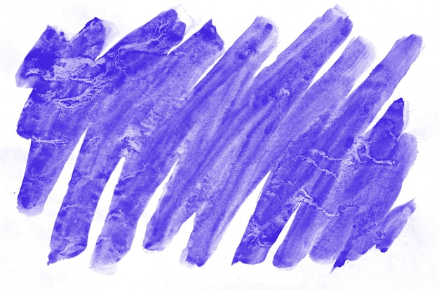 Líquido de pintura de pincel molhado aquarela violeta colorido