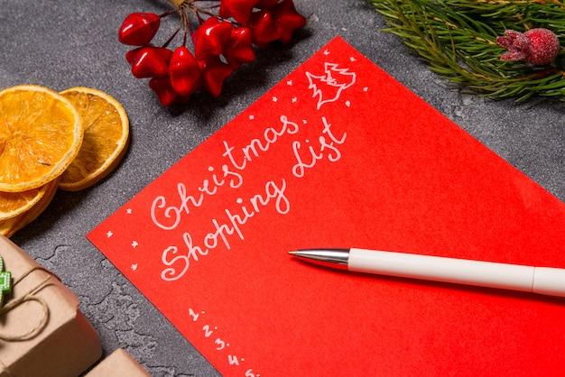 Lista de compras de natal