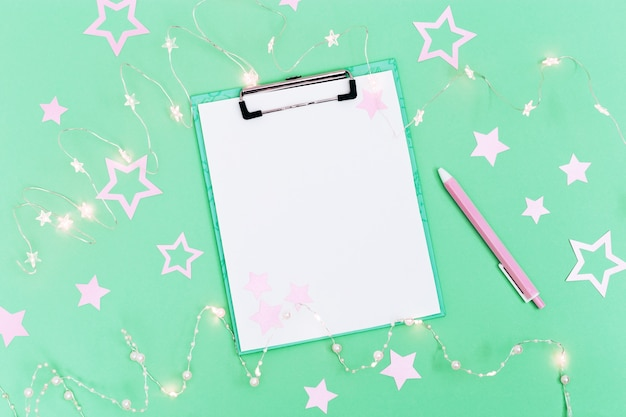 Lista de desejos de natal ou carta do papai noel