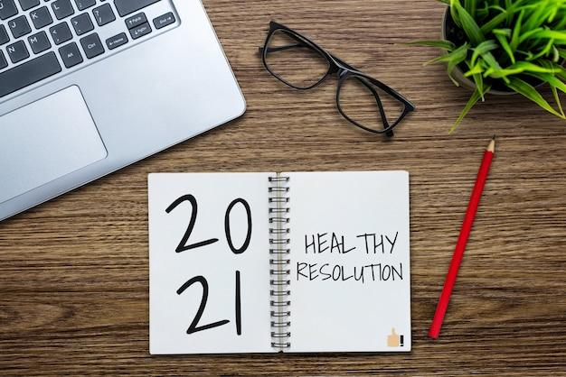 Lista de metas de resolução de feliz ano novo para 2021
