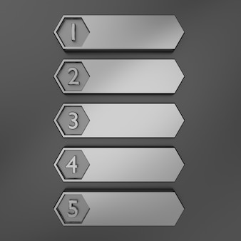 Lista numerada metálica