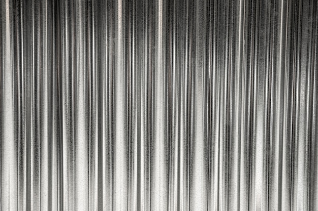 Listras de ferro cinza com fundo de espaço de cópia