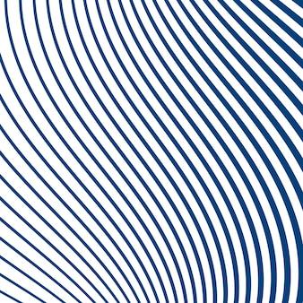 Listras de linha curva simples em azul sobre fundo branco. representação geométrica de listras