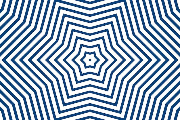 Listras de linha reta simples azuis de diferentes formas de design em um fundo branco. listras geométricas, caleidoscópio