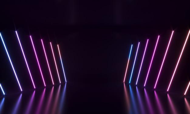 Listras de néon abstratas
