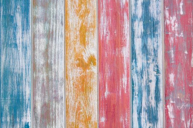 Listras mexicanas coloridas giz madeira pintada