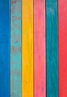 Listras mexicanas coloridas pintaram a textura de madeira