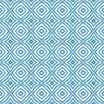 Listras texturizadas padrão azul caleidoscópio simétrico de fundo têxtil pronto para estampa maravilhosa nadar ...