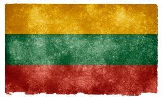 Lithuania grunge bandeira vermelha