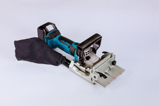 Lítio-íon cordless plate joiner, ferramenta funciona apenas na oficina usando lamelas e uma fresadora especial