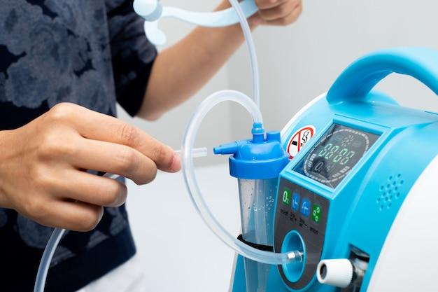Litro de medição do medidor de barra do concentrador de oxigênio