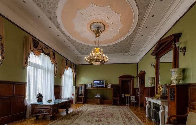 Livadia crimeia interior da residência na crimeia do último czar russo nicolau ii