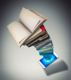 Livraria móvel em smartphone