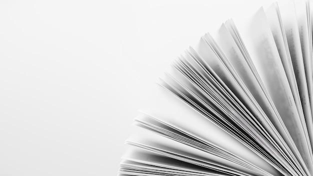 Livro aberto com espaço para cópia