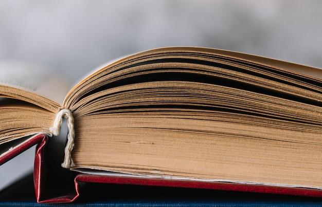 Livro aberto de vista frontal