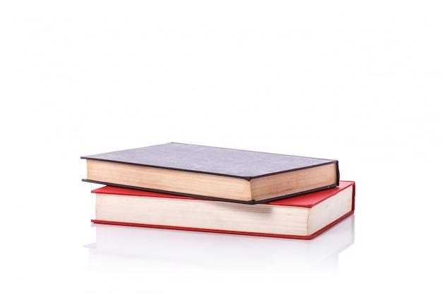 Livro antigo com capa vazia em branco.