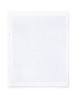 Livro branco com teste padrão da linha de grade isolado no fundo branco.