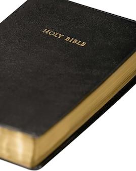 Livro da bíblia sagrada em fundo branco