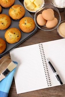 Livro de receitas bakery Foto gratuita
