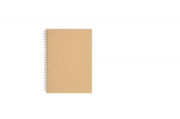 Livro de reciclagem marrom isolado