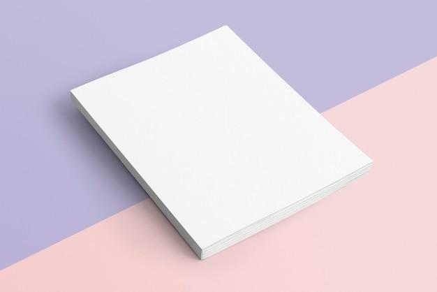 Livro em branco em fundo pastel