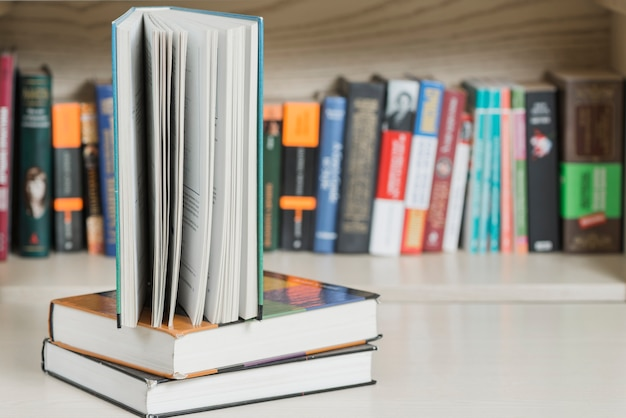 Livro, ficar, pilha