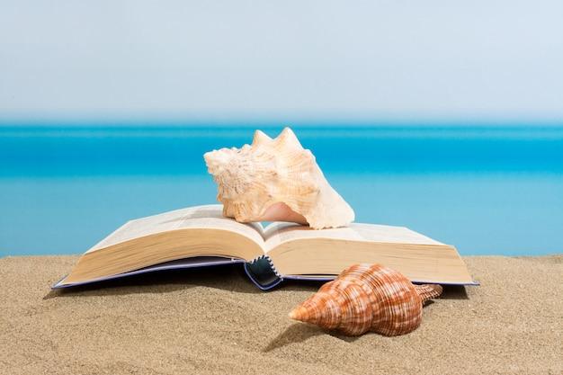 Livro na praia