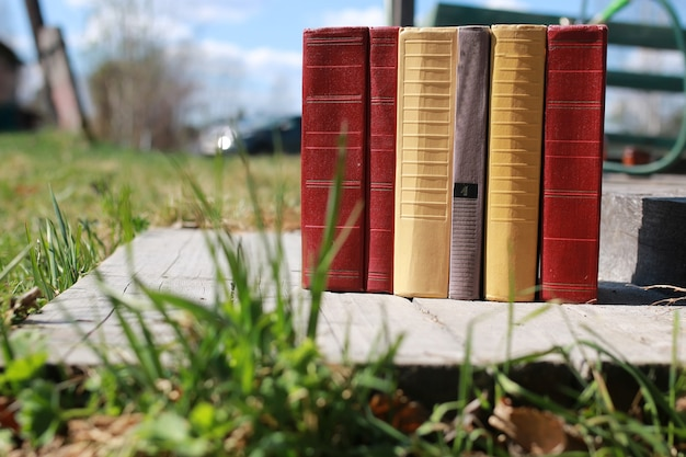 Livros em cima da mesa