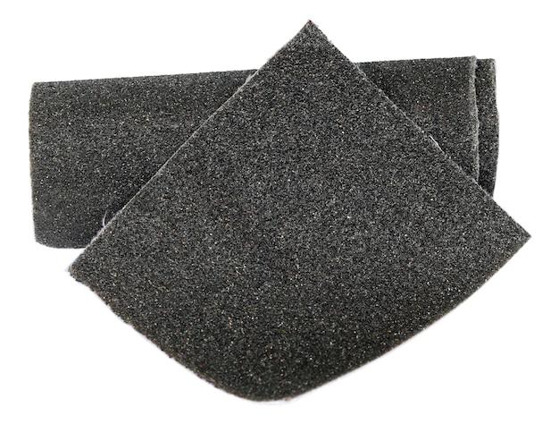 Lixa preta isolada sobre fundo branco