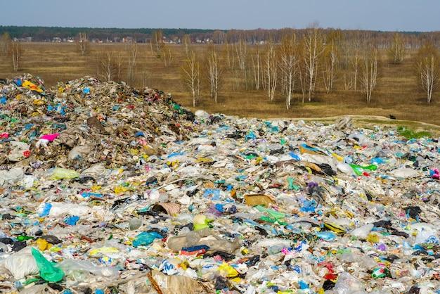 Lixo doméstico da natureza