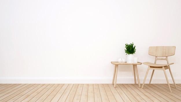 Lliving sala no café ou apartamento - renderização em 3d
